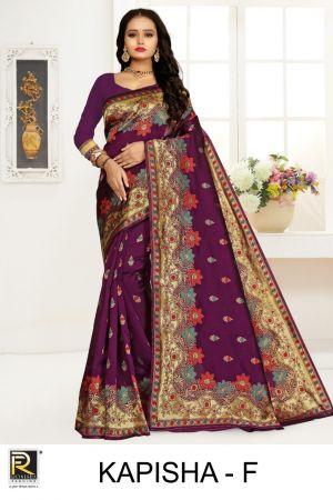 Ronisha Kapisha Silk Fancy Casual Wear Saree Collection