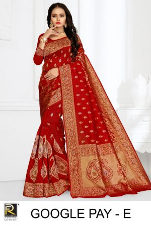 Ronisha Google Pay Silk Fancy Casual Wear Saree Collection