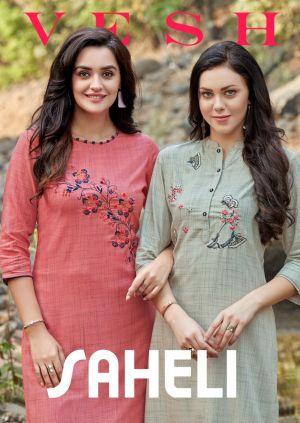 Vesh Saheli Designer Kurti With Bottom Collection