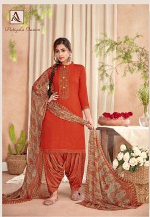 Alok Patiyala Fusion Punjabi Style Dress Material Collection