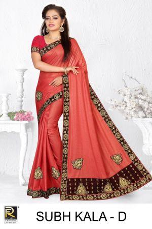 Ronisha Subh Kala Embroidery Worked Saree Collection