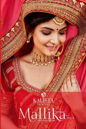 Kalista Mallika 3 Heavy Wedding Wear Saree Collection