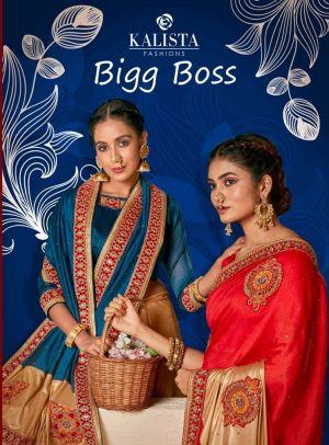 Kalista Big Boss Wedding Wear Embroidered Saree Collection