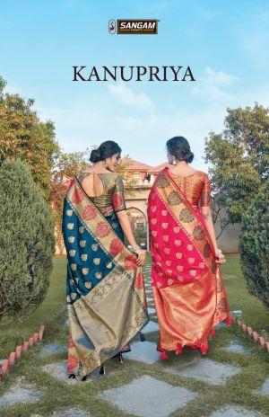 Sangam Kanupriya Silk Festive Wear Silk Saree Collection