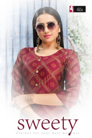 Ft Sweety Rayon Casual Wear Kurti With Bottom Collection
