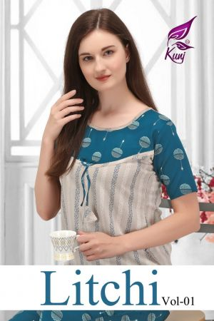 Kunj Litchi 1 Rayon Night Suits Collection