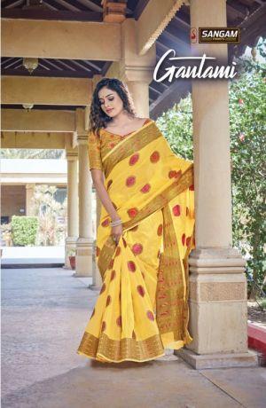 Sangam Gautami Cotton Handloom Sarees Collection