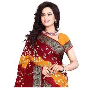 Sb6 Festive Wear Bandhej Saree Collection