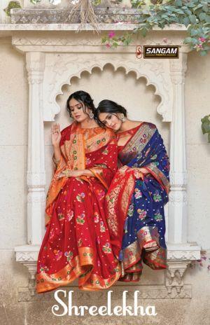 Sangam Shreelekha Pure Silk Sarees Collection