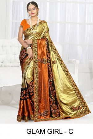 Ronisha Glam Girl Heavy Diamond Latest Saree Collection