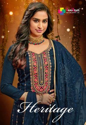 Sanskruti Heritage Exclusive Fance Designer Dress Material