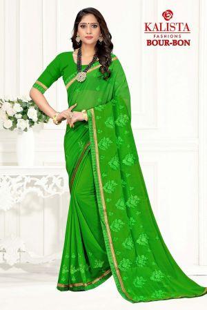 Kalista Bour Bon Georgette Festive Wear Saree Collection
