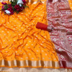 Maahi 10 Casual Wear Desinger Silk Saree Collection