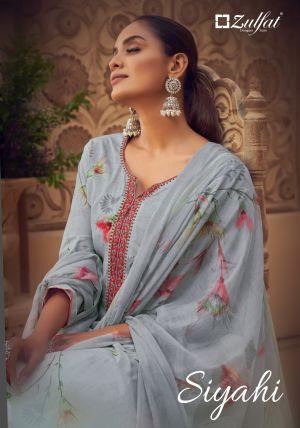 Zulfat Siyahi 3 Festive Wear Designer Dress Material