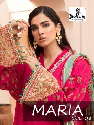 Majesty Maria B Lawn 8 Pakistani Salwar Suits Collection