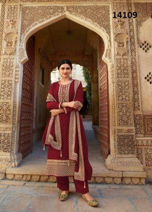 Andazz Hitlist Embroidered Designer Salwar Kameez