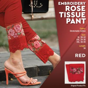 Embroidery Rosy Tissue Pant Collection