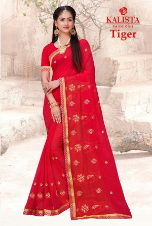 Kalista Tiger Festive Wear Georgette Saree Collection