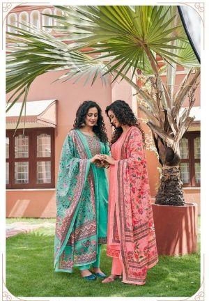 Triple Aaa Kamlee Jam Silk Festive Wear Dress Material