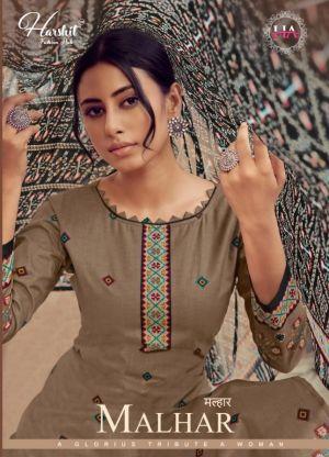 Harshit Malhar Pure Cambric Designer Dress Material