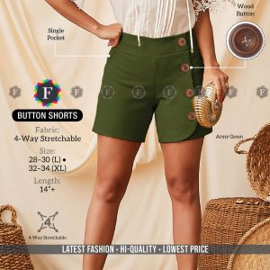 Button Shorts Fancy Stretchable Shorts Collection
