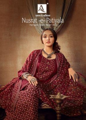 Alok Nusrat E Patiyala 7 Punjabi Style Patiyala Dress Material