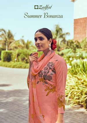 Zulfat Summer Bonanza Exclusive Designer Dress Material Collection