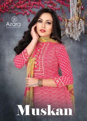 Azara Muskan Designer Fancy Festive Wear Dress Material