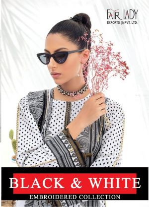 Fair Lady Black And White Designer Exclusive Pakistani Salwar Suits