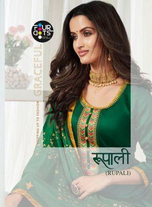 Four Dots Rupali Exclusive Designer Dress Materail