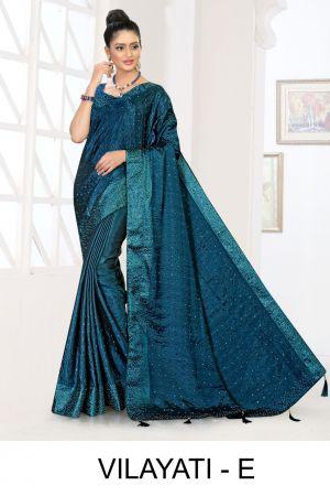 Ronisha vilayati fastive wear designer saree collection