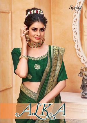 Saroj Alka Designer Rich Look Exclusive Saree Collection