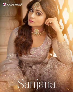 Aashirwad Sanjana 8396 Series Wedding Wear Salwar Kameez