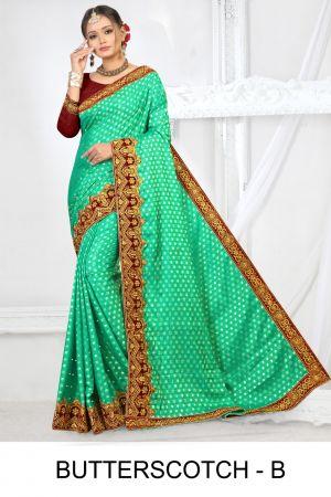 Ronisha butterscotch fastive wear designer saree collection