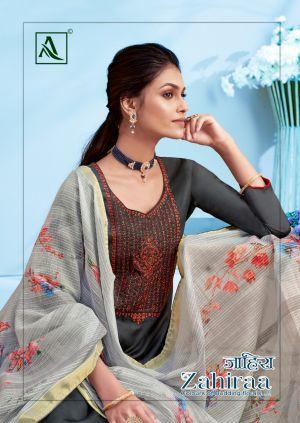 Alok Zahiraa Pure Jam Cotton Designer Dress Material