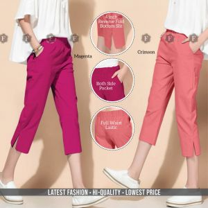 Linen Crop Pant Casual Wear Bottom Collection
