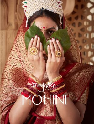 Monjolika Mohini Exclusive Banarasi Silk Rich Look Wedding Saree Collection