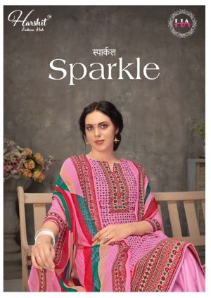 Harshit Sparkle Pure Cambric Dress Material Collection