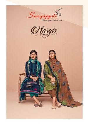 Suryajyoti Nargis 15 Printed Cotton Dress Materials Collection