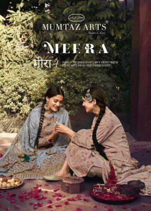 Mumtaz Meera Kani Pure lawn Cotton Dress Material