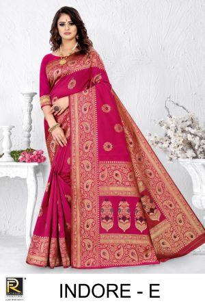 Ronisha Indore Casual Wear Silk Saree Collection