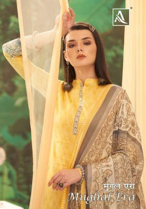 Alok Mughal Era 4 Pure Jam Designer Dress Material