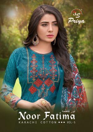 Js Priya Noor Fatima 5 Printed Cotton Dress Material