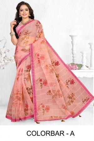 Ronisha Colorbar Ethnic Wear Organza Silk Saree Collection