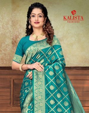 Kalista Drishna Silk Festive Wear Desinger Saree Collection