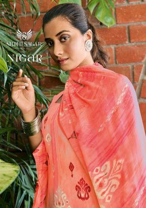 Siddhi Sagar Nigar Cotton Satin Designer Dress Material Collection