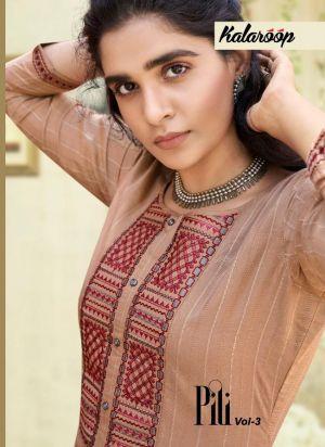 Kalaroop Pili 3 Fancy & Ethnic Wear Kurtis Collection