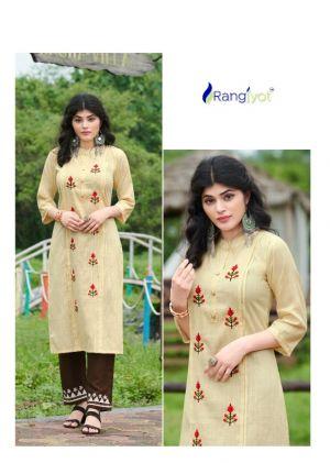 Rangjyot Riddhi 1 Designer Ethnic Wear Kurti With Bottom Collection