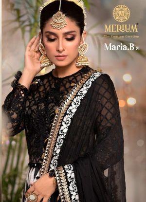 Merium Mbroidered Mariya B 21 Georgette Pakistani Salwar Kameez