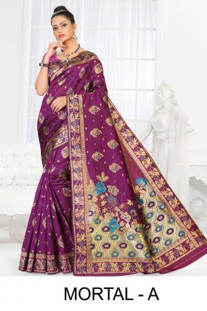 Ronisha Mortal Casual Wear Silk Latest Saree Collection